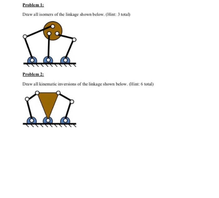Solved: Problem 1: Draw All Isomers Of The Linkage Shown B
