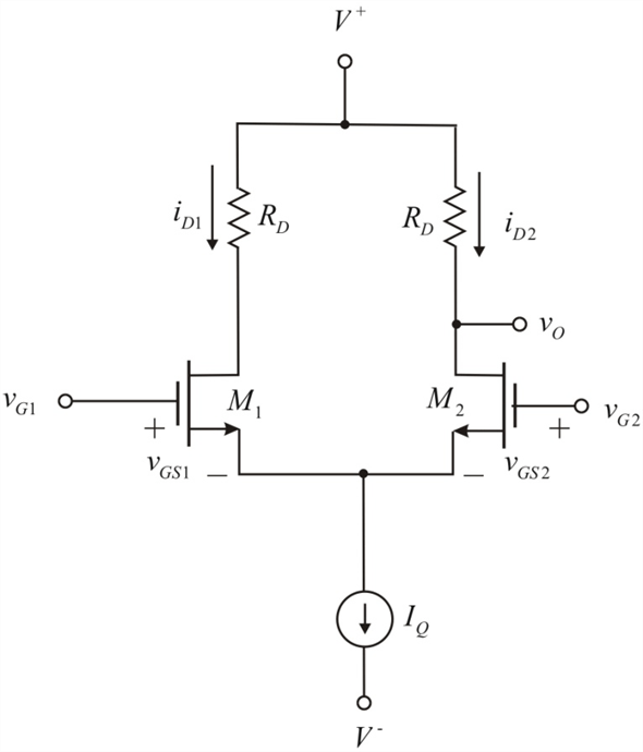 Solved: The circuit parameters of the diff-amp shown in