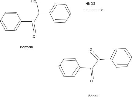 Draw The Mechanism Of Oxidation Of Benzoin To Benz