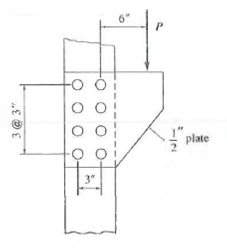 Solved: For the A36 steel bracket plate of the