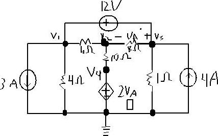 Solved: Use Nodal Analysis To Find V1, V2, V3, And V4 In T