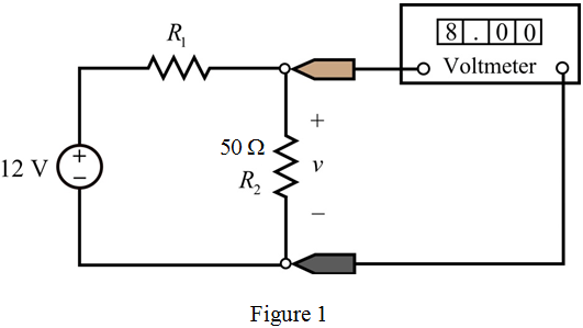 Solved: The ideal voltmeter in the circuit shown in Figure