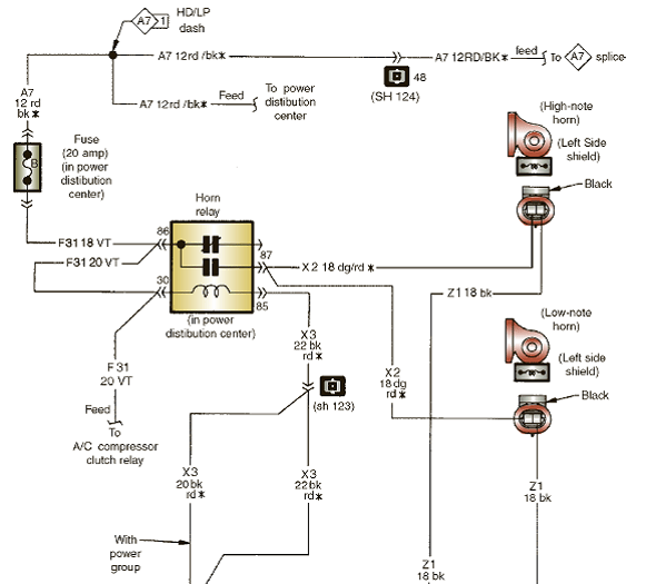 solved the horn circuit wiring diagram is being discussed