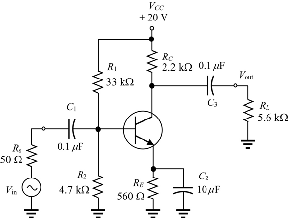 Solved: Determine the Miller input capacitance in Figure 1
