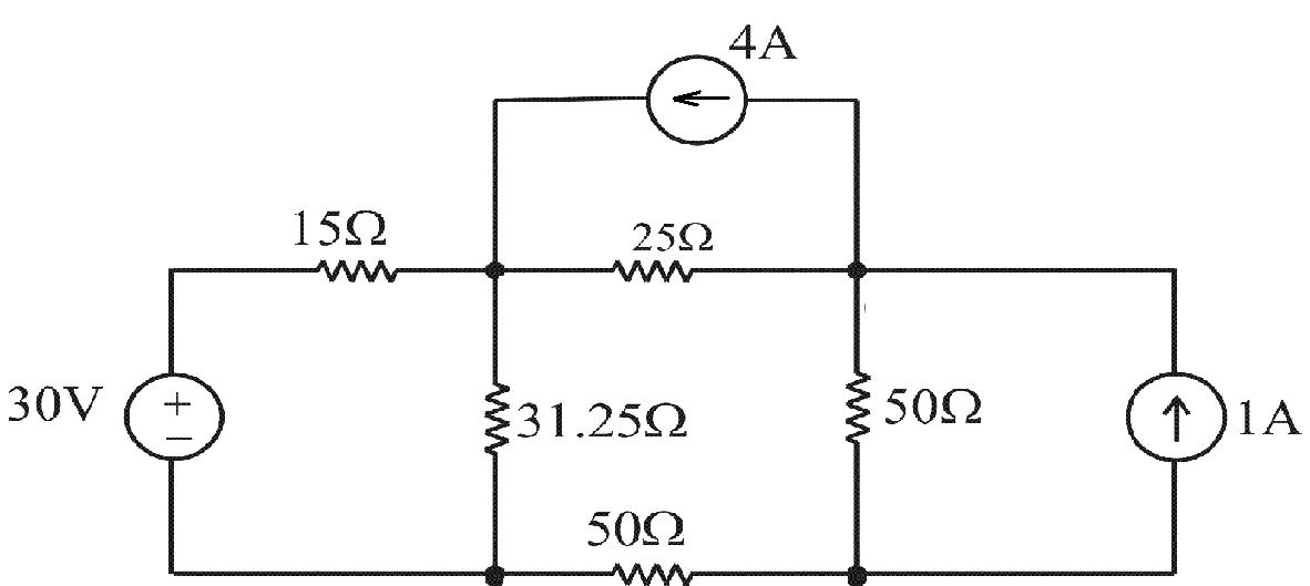 Solved: Use The Nodal Voltage Method To Find The Totalpowe