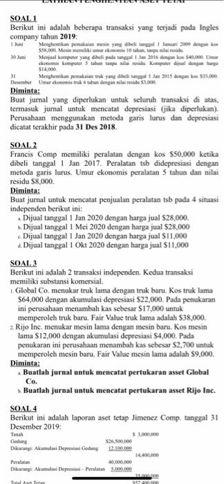 Berikut Ini : berikut, SOALI, Berikut, Adalah, Beberapa, Transaksi, Chegg.com