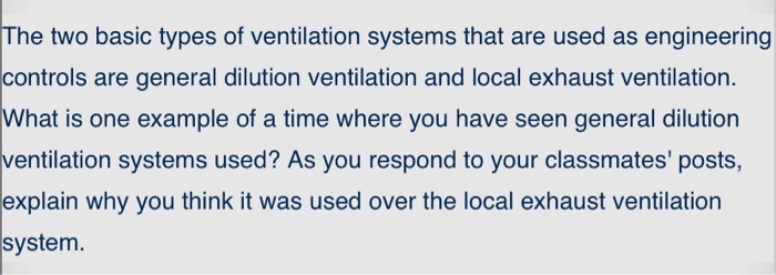 two basic types of ventilation systems