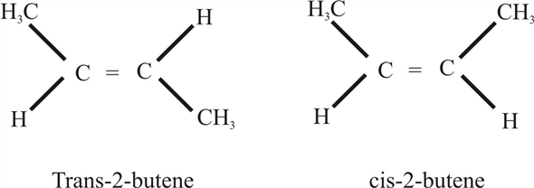 Solved: Draw the structures of cis-2-butene and trans-2