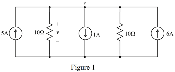 Solved: Determine υ in the circuit of Fig. 3.16.FIGURE 3
