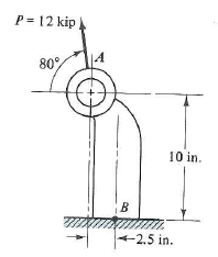 Solved: A section cut from an offset link has dimensions