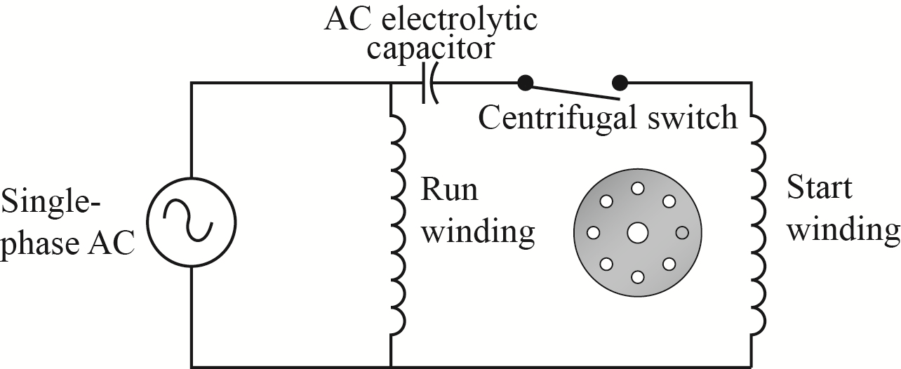 Wiring Diagram Of Capacitor Start Single Phase Motor