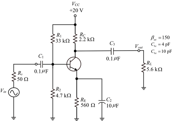 Solved: Express the midrange voltage gain of the amplifier
