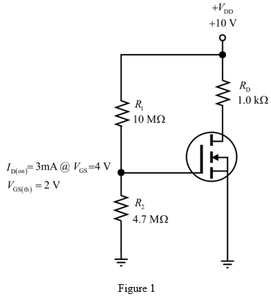 Solved: Find VGS and VDS for the E-MOSFETs in Figure 1