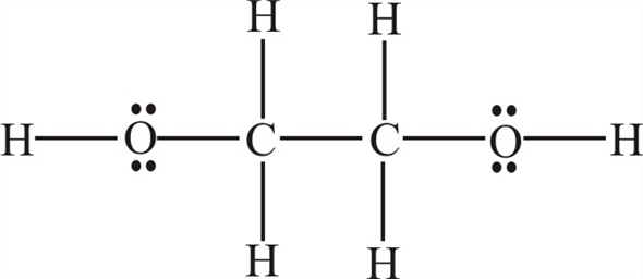 Solved: Ethylene glycol, C2H6O2, has one OH bonded to each