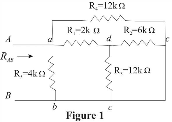 Solved: Find RAB in the circuit in Fig. P2.63.Figure P2.63