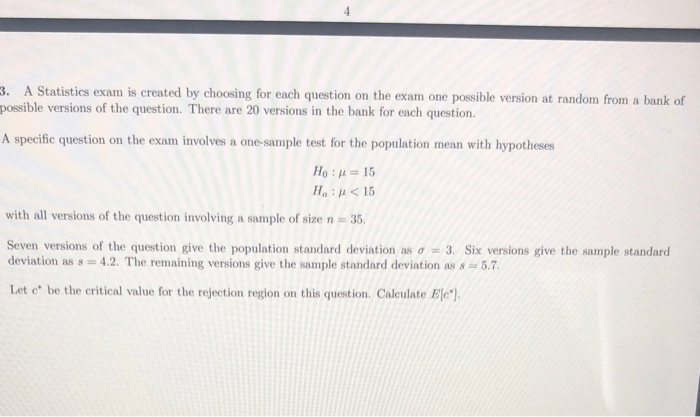 Solved: 3. A Statistics Exam Is Created By Choosing For Ea