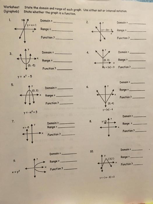 PDF Interval Notation Worksheet