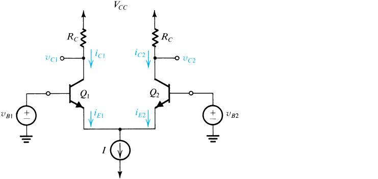 Solved: For The BJT Differential Amplifier Shown, Find The