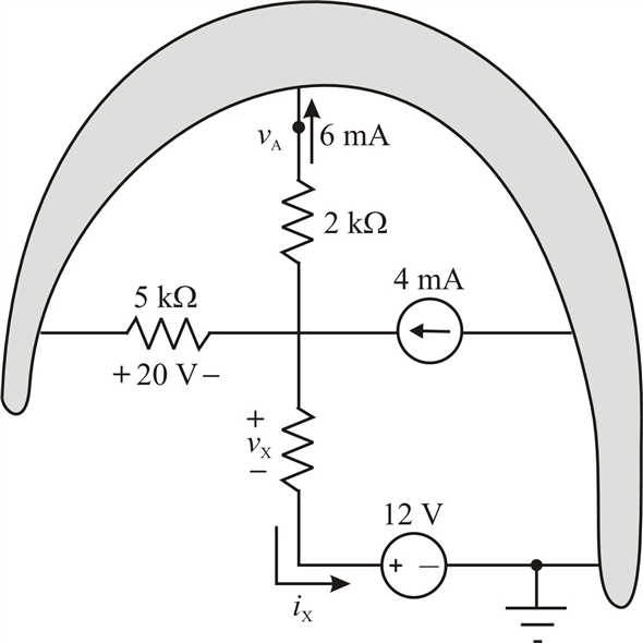 Solved: Figure P2−32 shows a subcircuit connected to the