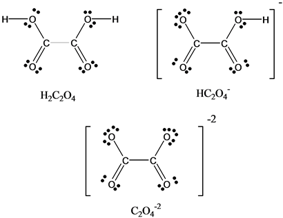 Solved: Oxalic acid (H2C2O4) is found in toxic