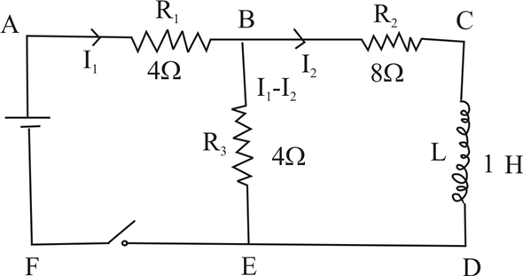 Solved: The switch in Figure P23.43 is open for t