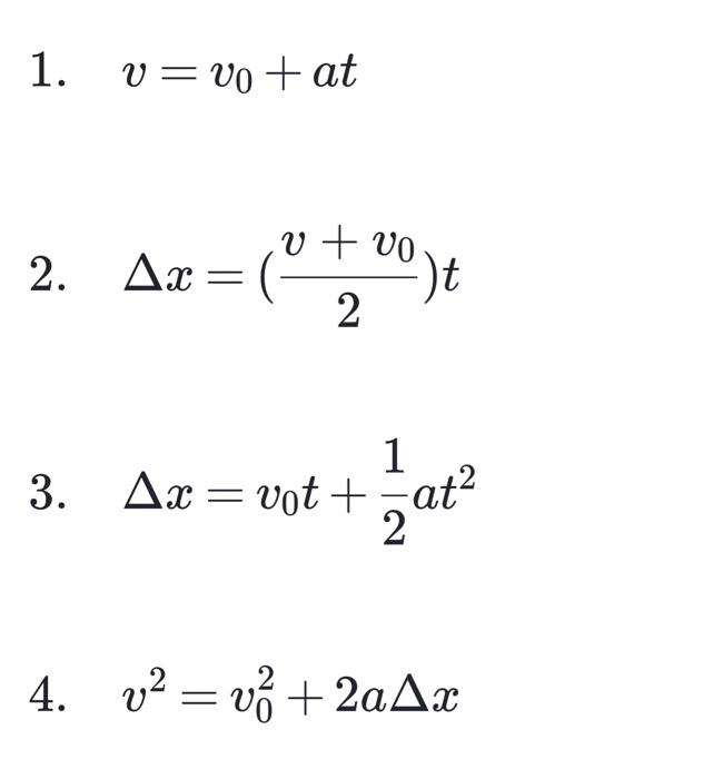 Kinematic Equations Physics Problems - Tessshebaylo