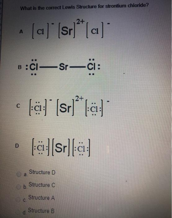 Lewis Structure For Al : lewis, structure, Solved:, Correct, Lewis, Structure, Strontium, Chegg.com