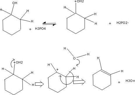 Mixing Cyclohexanol With Phosphoric Acid Is Andexo