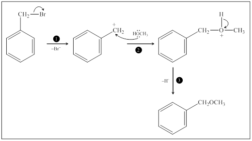 Solved: Benzyl bromide (C6H5CH2Br) reacts rapidly with