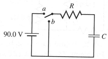 Solved: In The Circuit, R=30.0 K Ohms And C=0.10 µF. The C