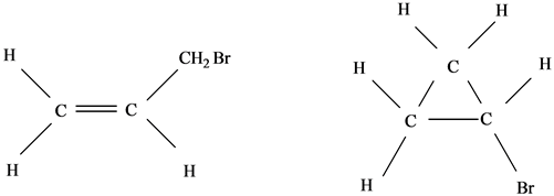 Solved: Draw all possible isomers for the molecule C3H5Br