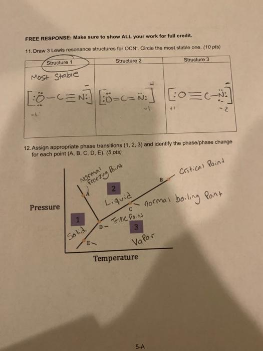 Resonance Structures For Ocn : resonance, structures, Solved:, RESPONSE:, For..., Chegg.com