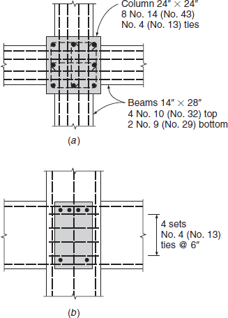Solved: An interior column joint in a reinforced concrete