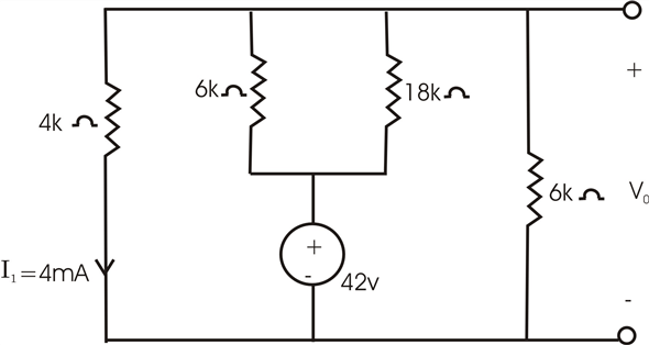 Solved: Find Vo in the circuit in Fig. P2.71.Figure P2.71