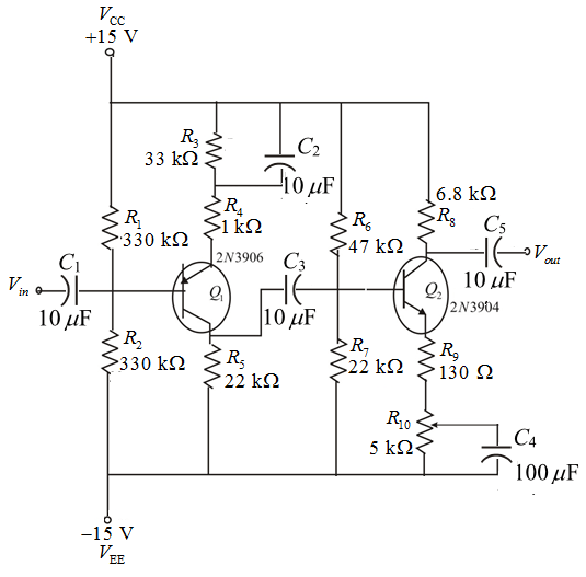 Solved: Calculate the circuit power dissipation with no