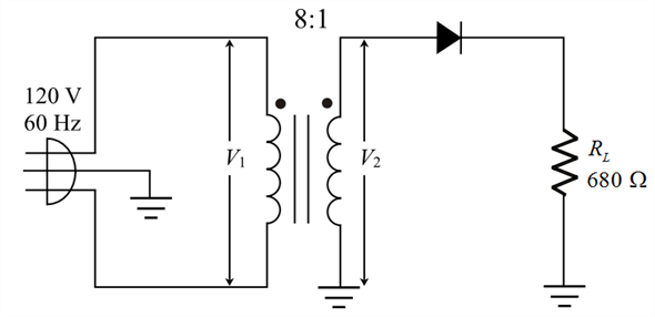 Solved: Calculate the peak output voltage and the dc