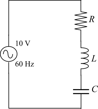 Solved: A series RLC circuit attached to a 120 V/60 Hz