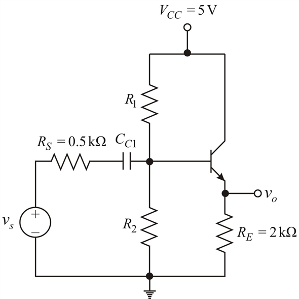 Solved: Design an emitter-follower circuit with the