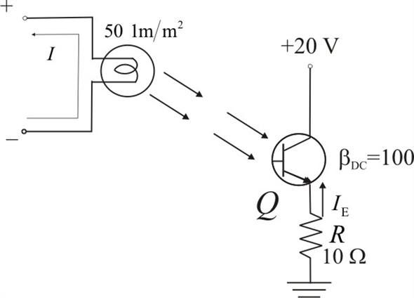 Solved: Determine the emitter current in the