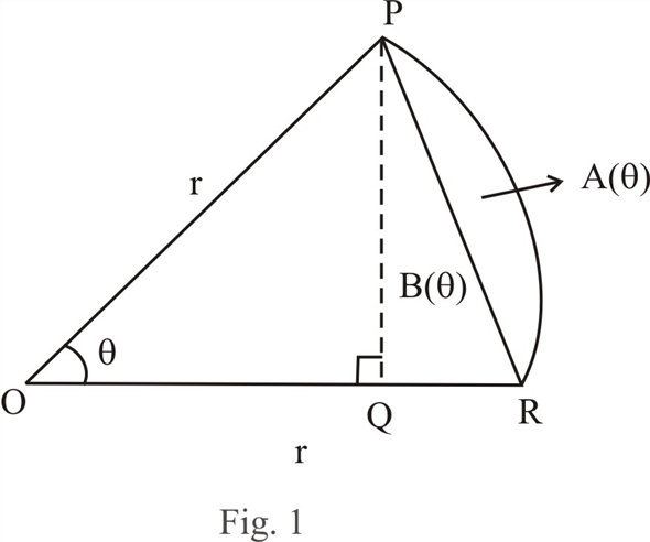 Solved: The figure shows a sector of a circle with central