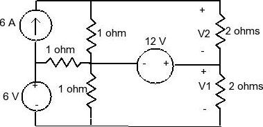 Solved: Using The Node-voltage Method Find V1 And V2Please