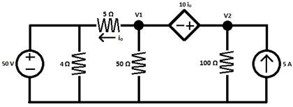 Solved: Find The Node Voltages V1 And V2 In This Circuit U