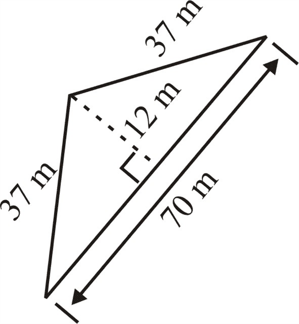 Solved: Find the area of each triangle. See Example 11