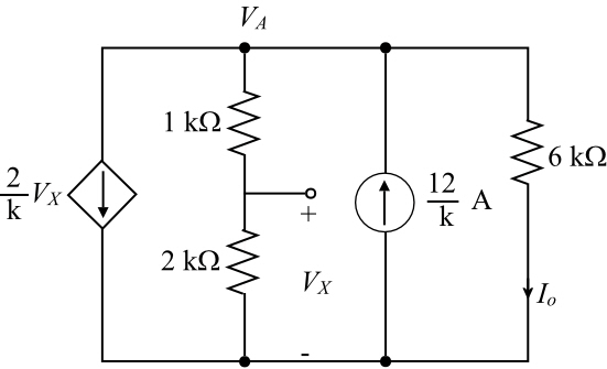 Solved: Find I0 in the circuit in Fig. P2.52.Figure P2.52