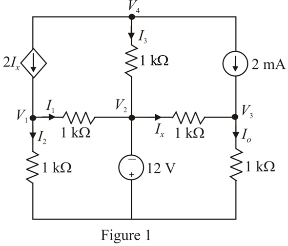 Solved: Determine Vo in the network in Fig. P3.53 using