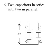 Solved 6 Two Capacitors In Series With Two In Parallel