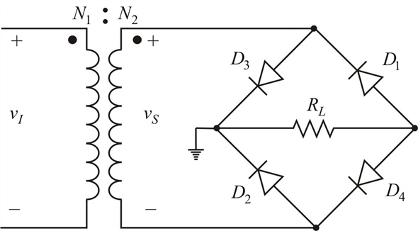 Solved: Consider the full-wave rectifier circuit in Figure