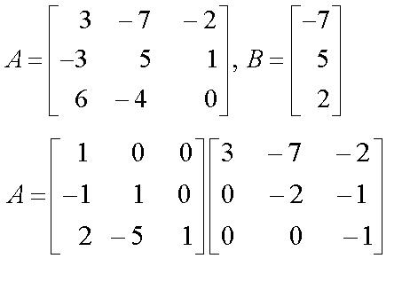 Solved: Solve The Equation AX = B By Using LU Factorizatio