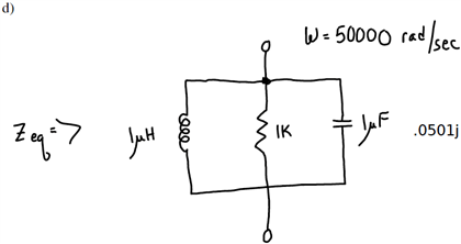 Solved: Solve For The Equivalent Impedance And Draw The Eq
