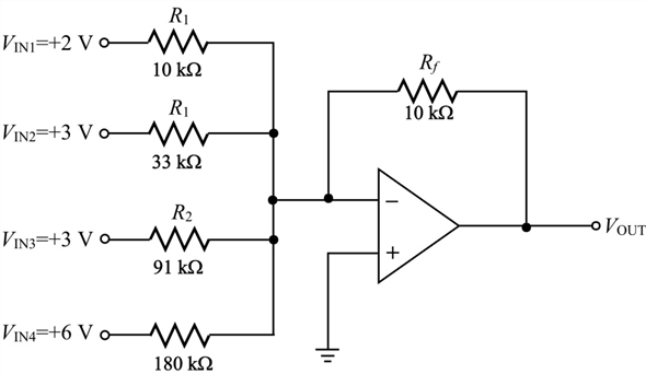 Solved: Find the output voltage when the input voltages